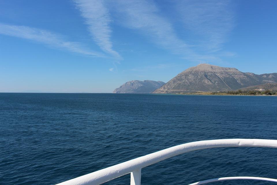Greece, West Greece, The Gulf Of Patmos, Landscape