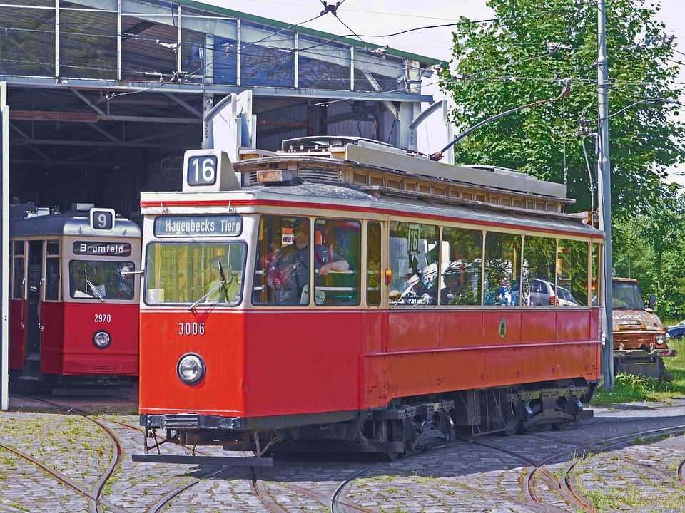 The Hamburg Tram, Operation Of The Museum, Curve, Depot