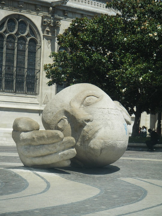 The Head Of The, The Hand, Square, France, Paris