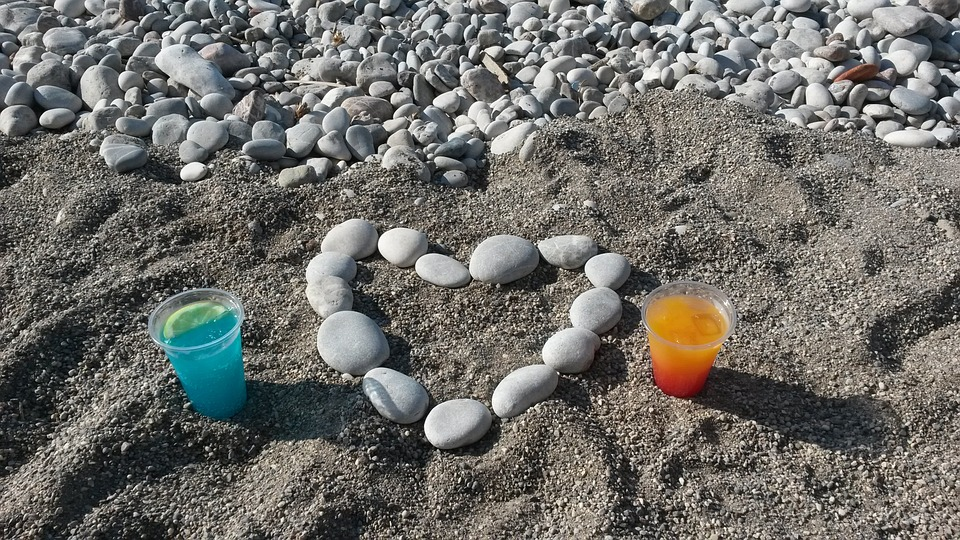 The Heart Of, Boulders, Beach, Stones, Love, Luck