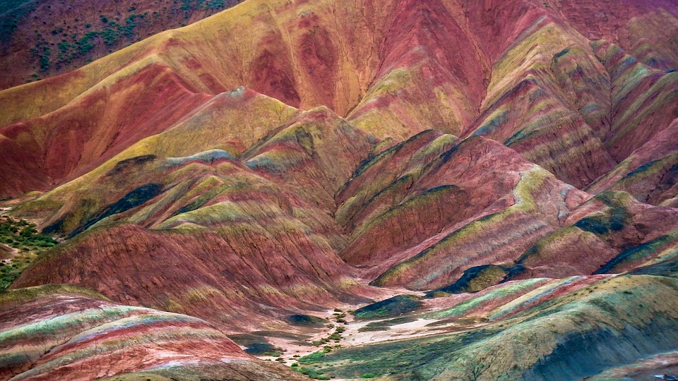 The Hexi Corridor, Zhangye, Colorful Danxia