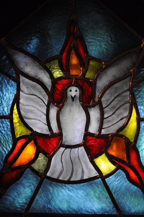 The Holy Spirit, Dove, Church, Stained Glass Window