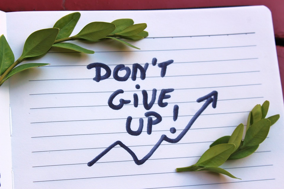 Don't Give Up, Motivation, The Inscription, Handbook