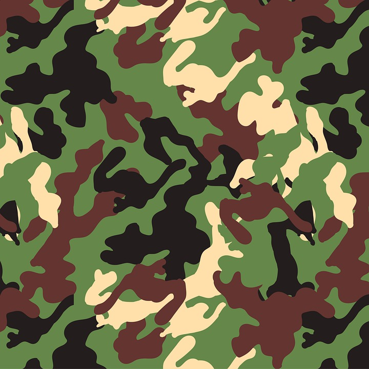 Camo, Green, Soldiers, The Leaves