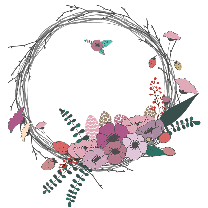 Flowers, Twig, Wreath, Spring, The Leaves, Invitation