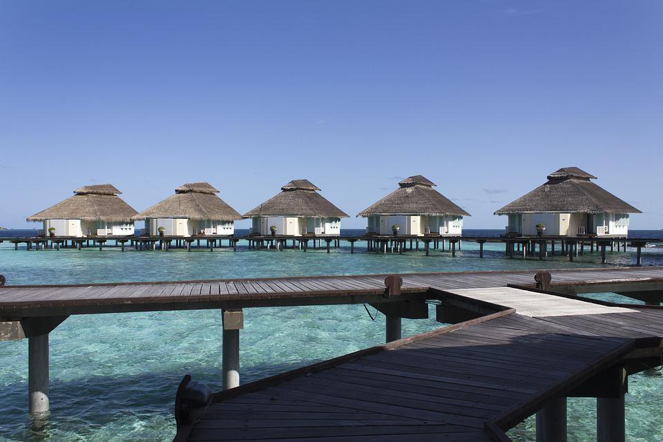The Maldives, Overwater, Bungalows, Holiday, Paradise