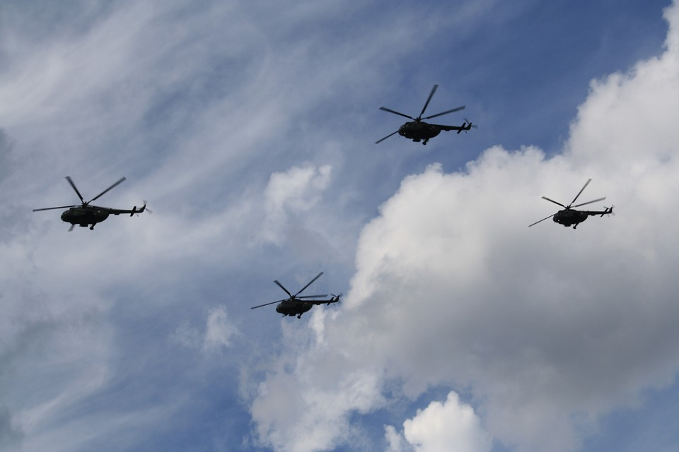 Helicopters, Military Parade, The Military