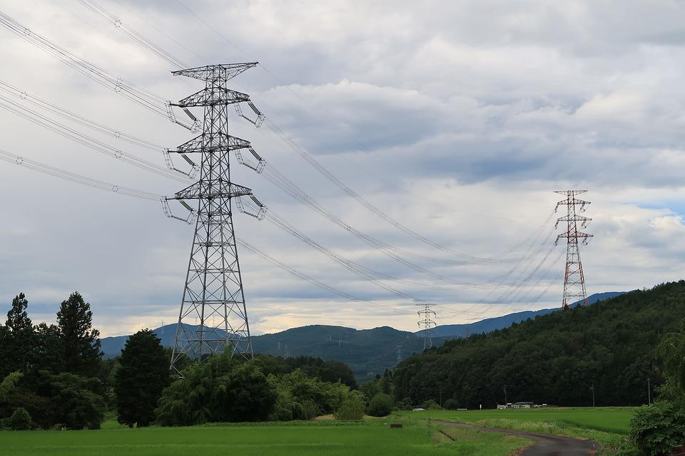 Tower, Power Line, Japan, The Mountains, Industrial
