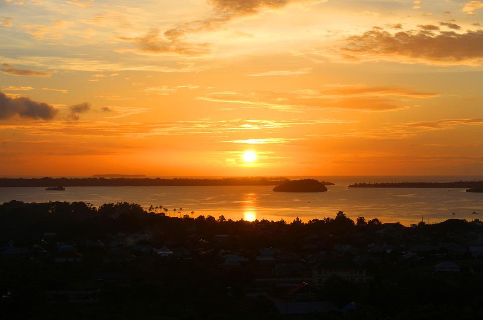 The Sea, Peak, The Natural Scenery, Sunset, Kei Islands