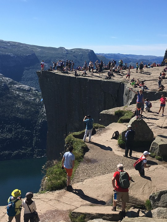 Pulpit Rock, Mountain, The Nature Of The, Tourists