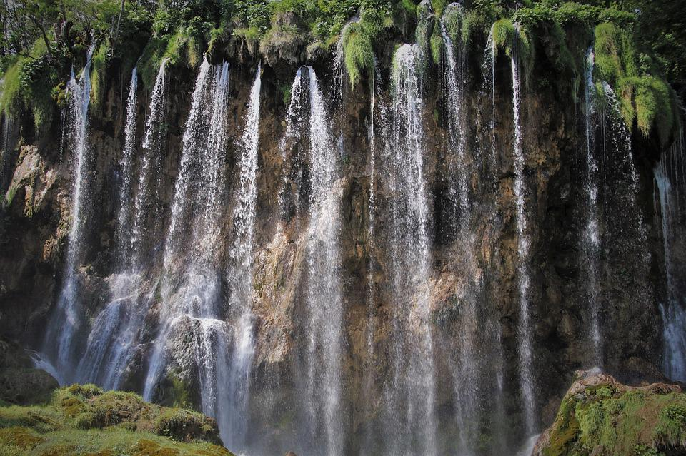 Plitvice, Cascade, Brown Waterfall, The Nature Reserve