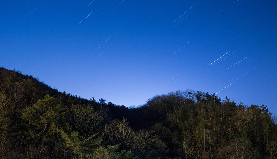 The Night Sky, Star, Stars Trajectory, Light, Night