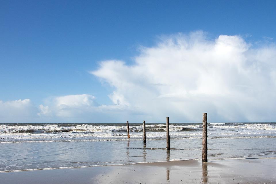 Sea, Sky, Clouds, Waves, The North Sea, Horizon, Water