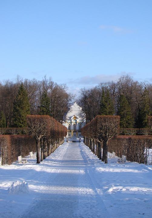 The Palace Ensemble Tsarskoe Selo, Russia, Alley