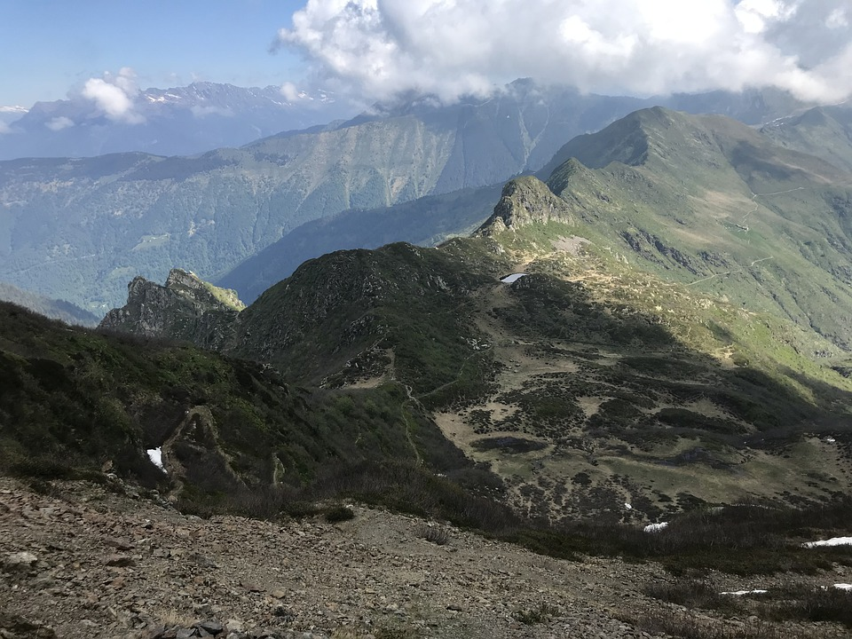 The Panorama From The Top Verta, Alpine Route, Alps