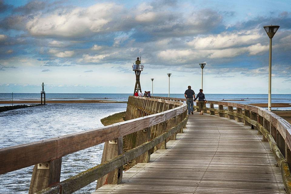 Courseulles-sur-mer, The Pier, Normandy, Sea, Sky