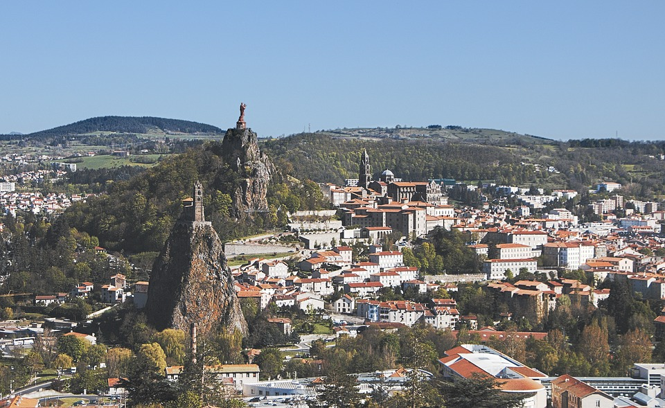 The Puy In Velay, Auvergne, Volcanoes, Landscape
