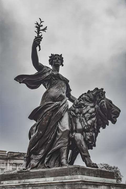 The Queen Victoria Memorial, Buckingham Palace, England