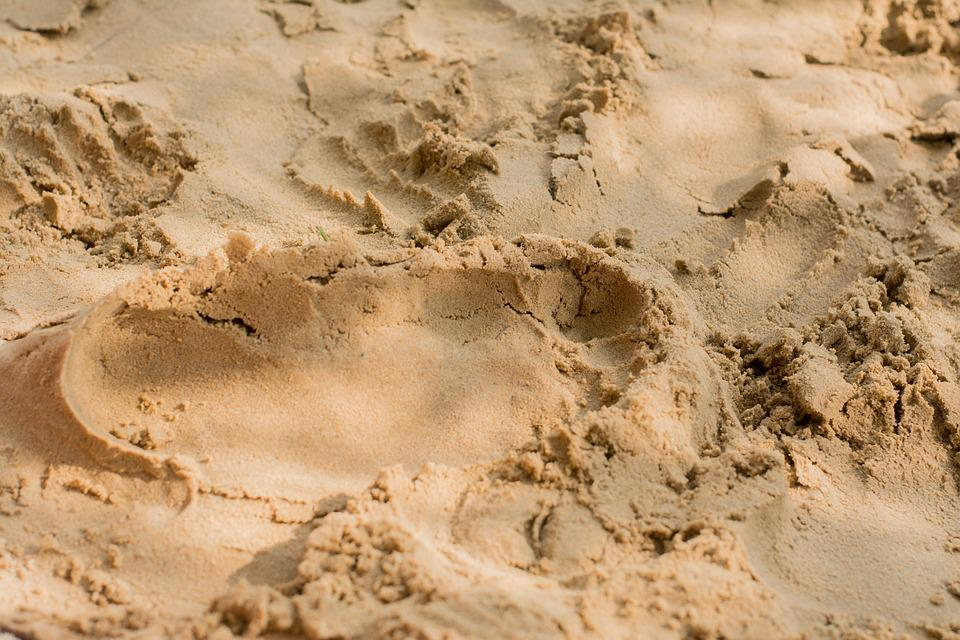 Sand, Footprint, Traces, Imprint, The Rate Of, Beach