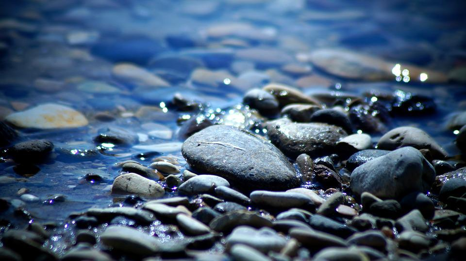 Water, Stones, The River And Nature