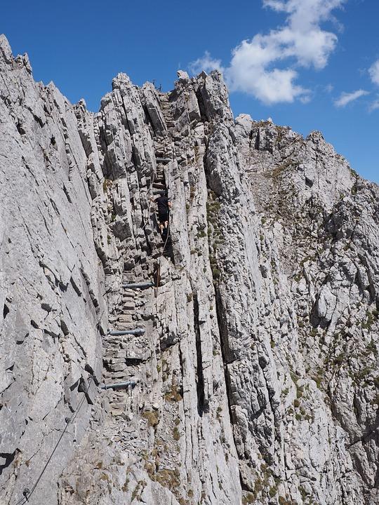 Climbing, The Rope, Rock, Exposed, Scramble