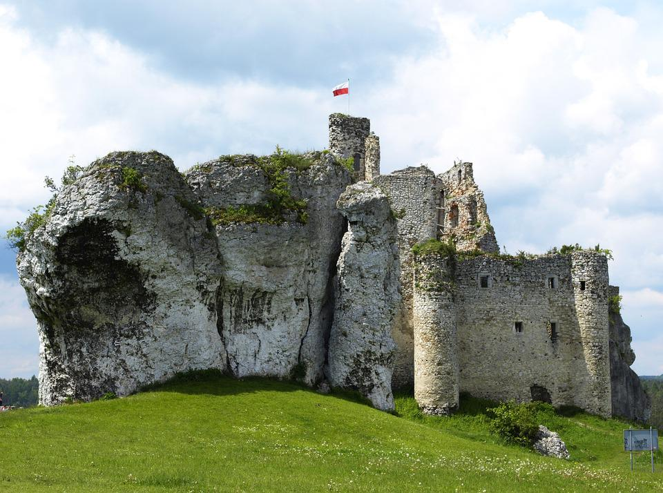 The Ruins Of The, Gmina Mirów Castle, Old, Architecture