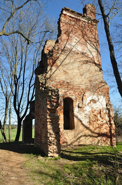 The Ruins Of The, Destroyed, House, Old, Poland