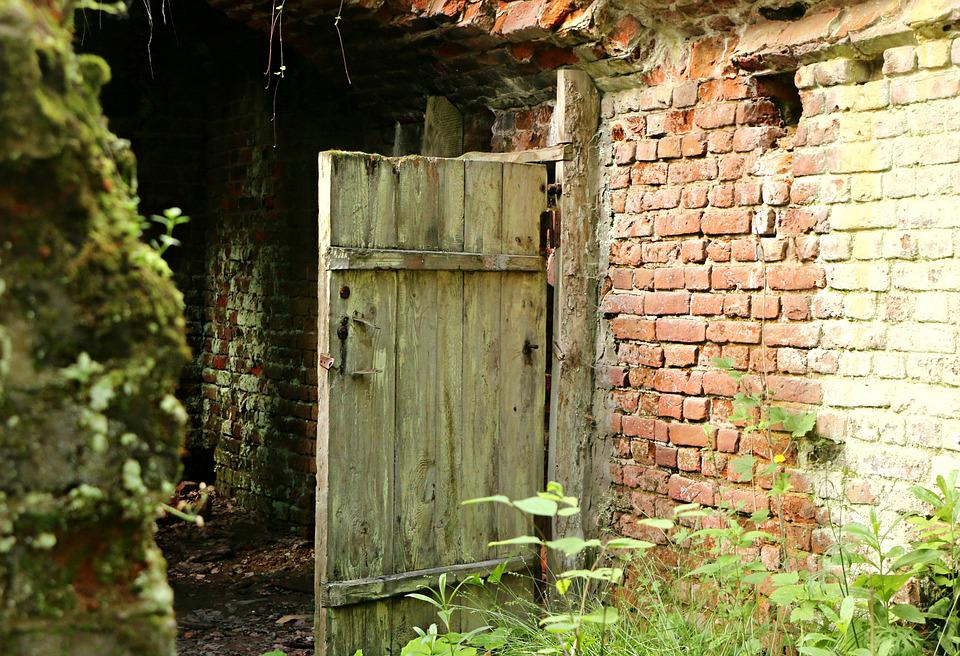 Door, Entrance, Old, The Ruins Of The, Underground