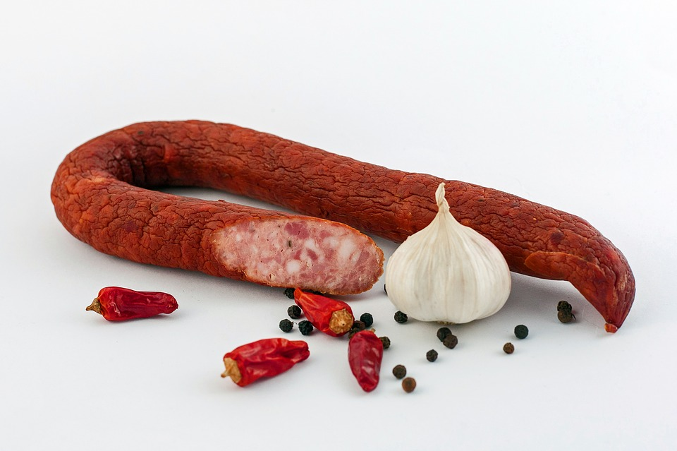 Sausage, The Sausage, Cold Meats, Food, Spicy, Eat