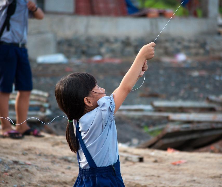 Childhood, Child, Happy, The Sea, Vietnam