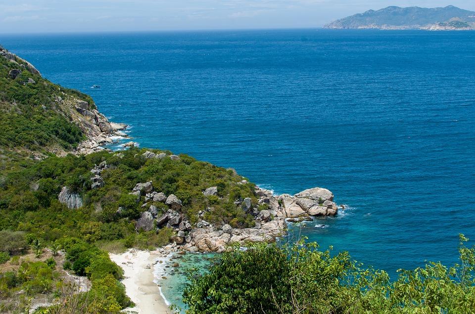 The Sea, Coast, Setting, Turtle, Mountain, Beauty