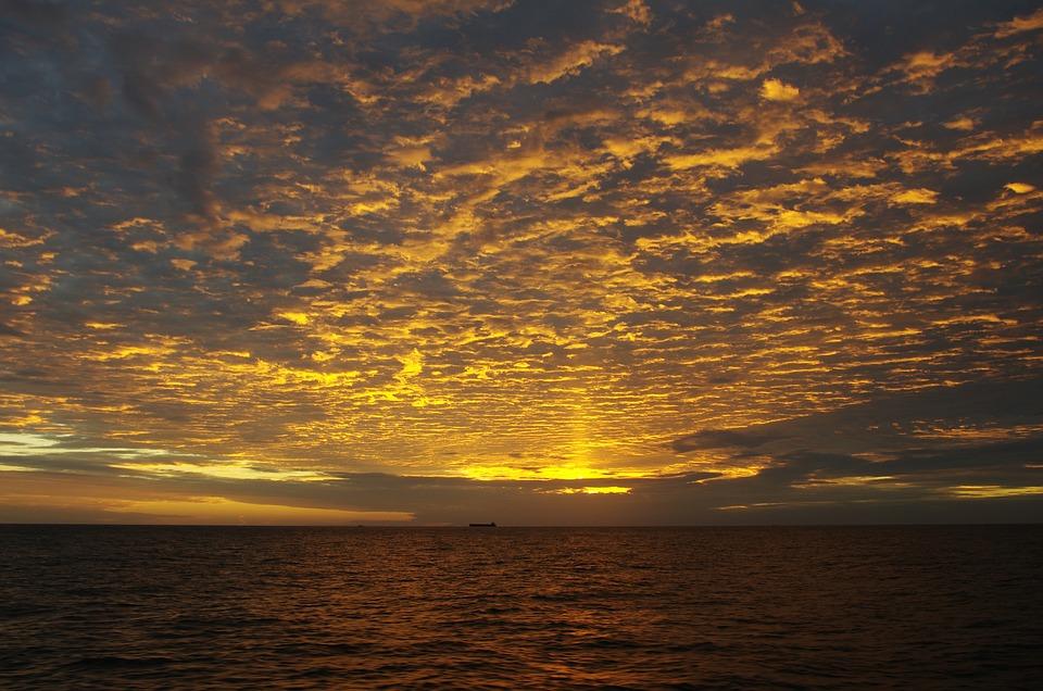 Sunrise, The Sea, Choi, Sky, Cloud