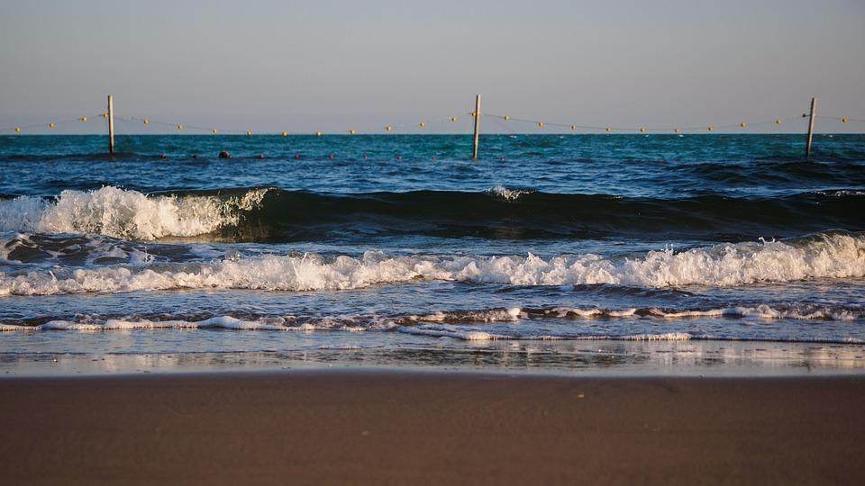 The Sea, Beach, The Waves, Blue, Spray