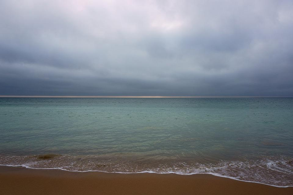 Beach, Atlantic, Island Of Oleron, The Seulière, Ocean