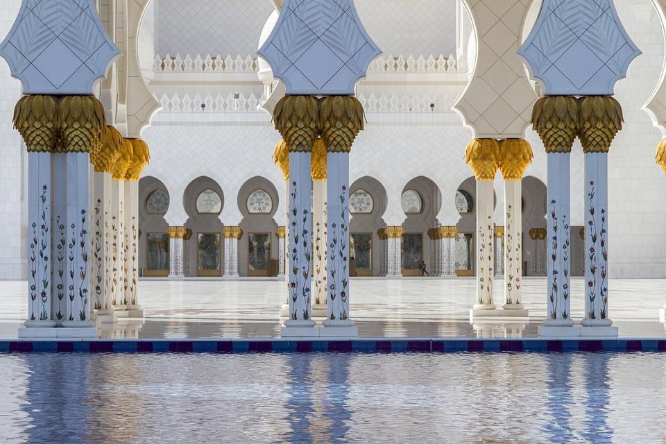 Abu Dhabi, Blue, Mosque, The Sheikh Zayed Grand Mosque