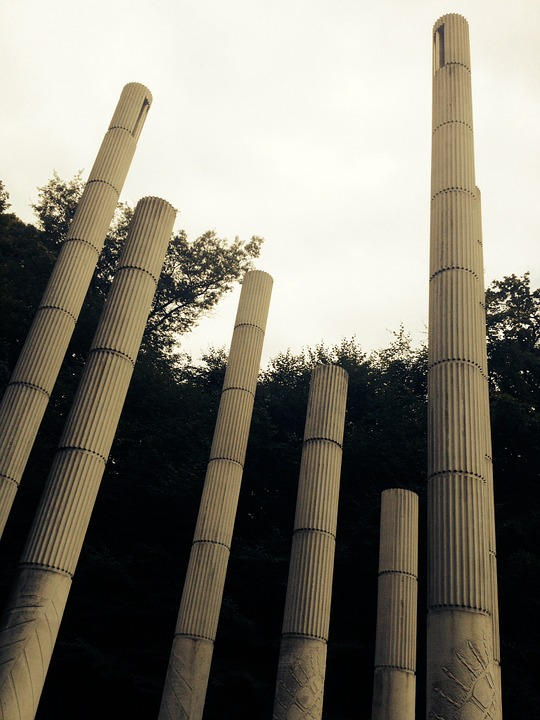 Pillars, The Sky, Poles, Odense, Forest Lake