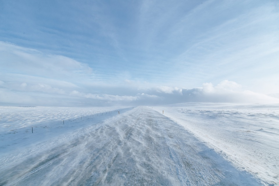 Snow, Mount, Bright, White, The Sky, Blue