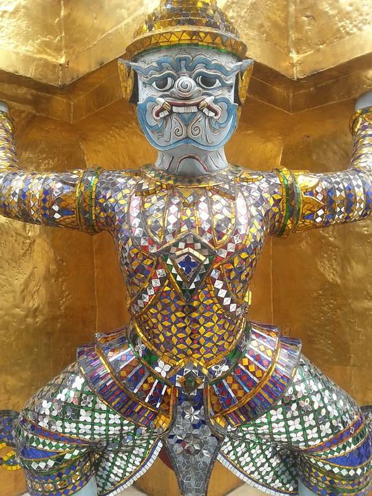 The Statue Of, Architecture, Bangkog, Thailand