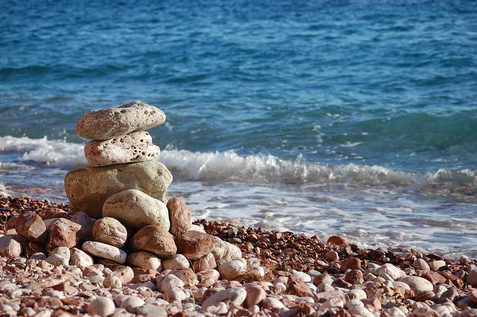 The Stones, Water, Sea, White Balance, Beach, Nature