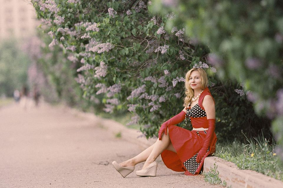 The Style Of The 50s Years, 50s, Women's Fashion, Park