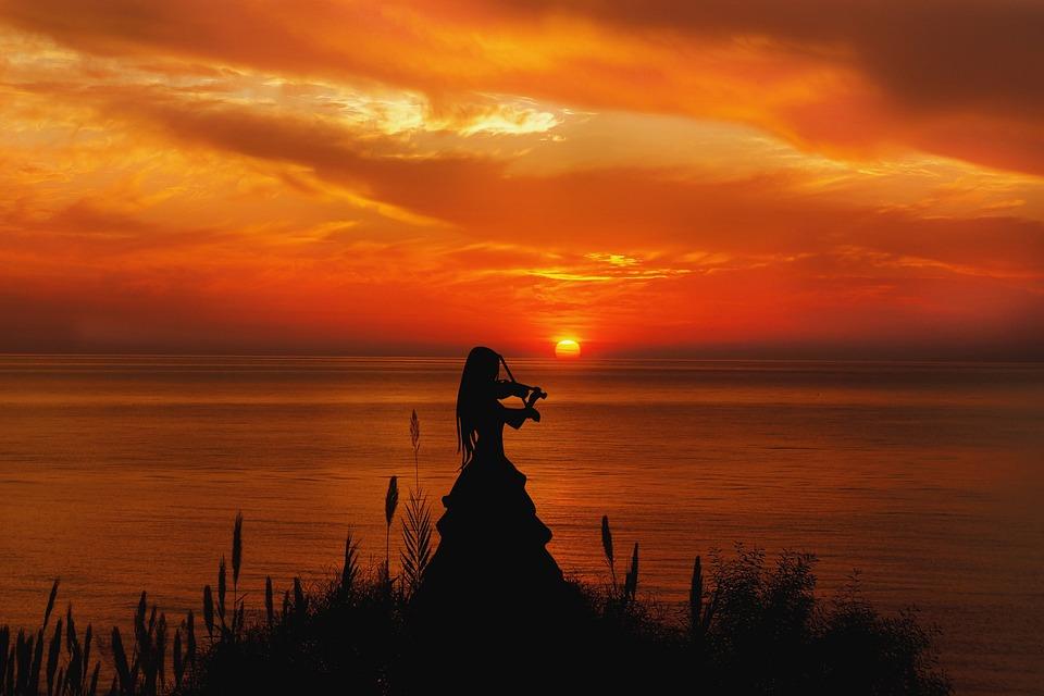 Mati, The Sun, West, Sky, Clouds, Evening, Twilight
