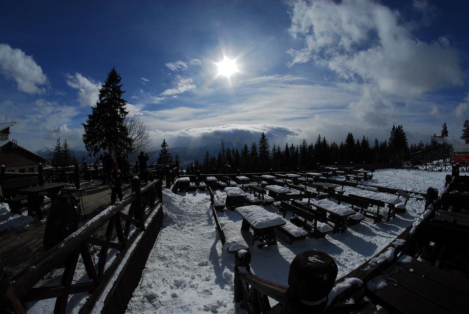 Mountains, The Sun, View, Landscape, Snow
