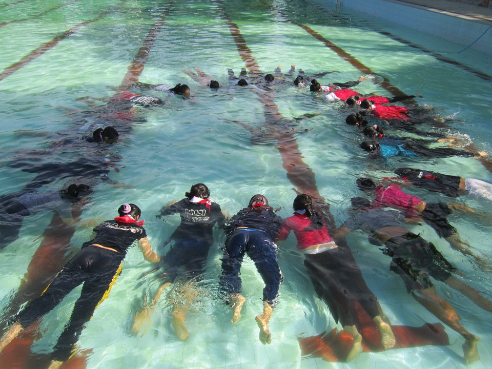 The Swimming Pool, Training, Dive, Scout, Tent, Camp