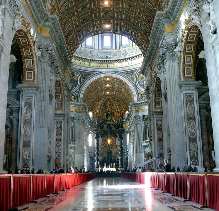 The Vatican, Cathedral Of St Peter, Rome, The Basilica
