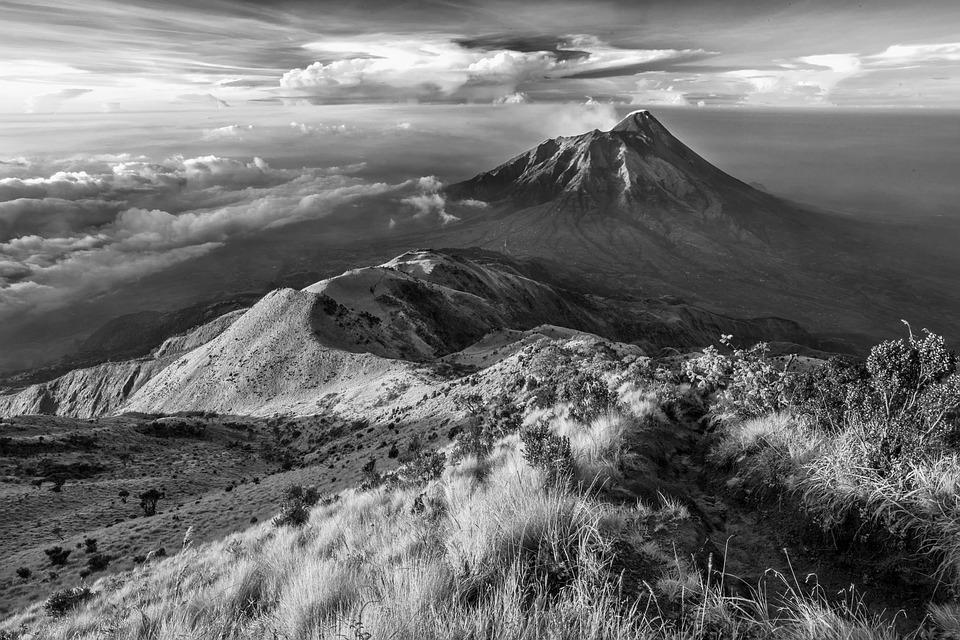Landscape, Mountain, The Volcano, Indonesia