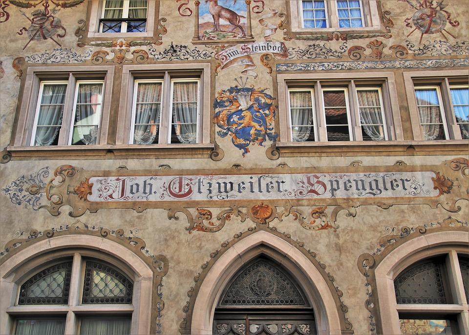 Old House, Stein Am Rhein, Frescoes, Facade, The Window