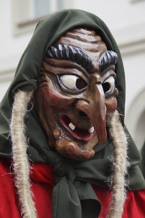 The Witch, Braids, Witch Mask, Woman, Strassenfasnet