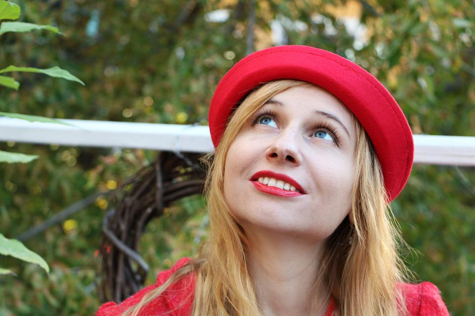 The Woman In Red, Lady In Red, Woman In Hat