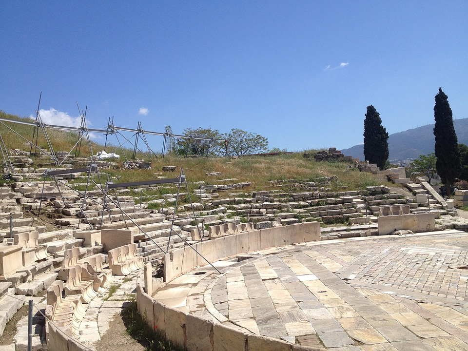 Greece, Amphitheater, Ancient, Theater