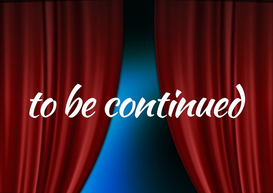 Curtain, Cinema, Theater, Stage, Font, To Be Continued
